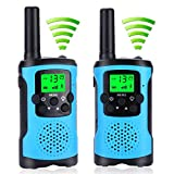AceLife Walkie Talkies for Kids with 2 Lanyard,2 Way Radio Toy with LED Light,Intercom Tool 3KM Long Distance PMR 446MHz 8 Channels VOX LCD Display Walkie Talkie for Indoor/Outdoor Play & Sport