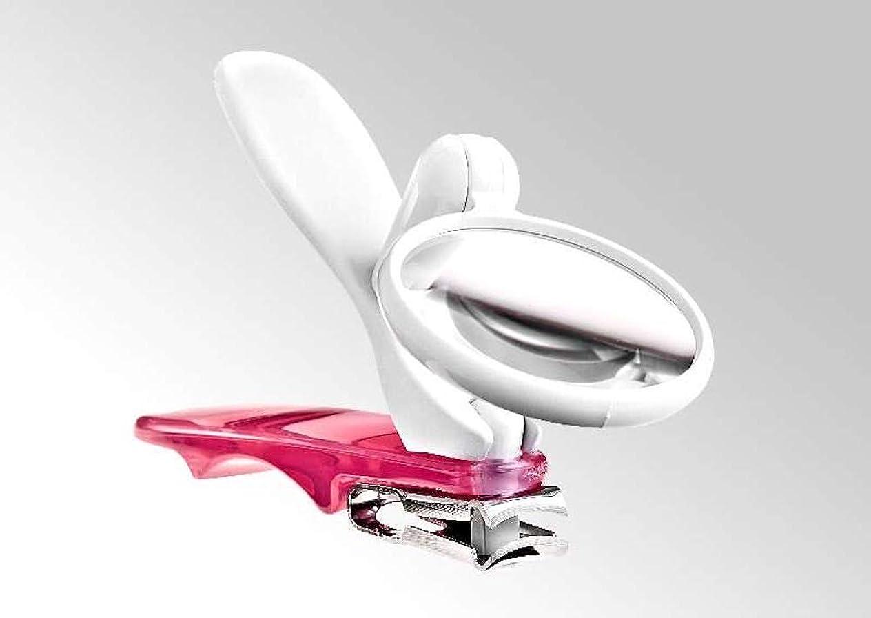 印象的なひも規範Bocas 360度回転する足用爪切り?ルーペ付き (ピンク)