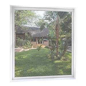 MYCARBON Mosquitera Ventana de 2 unidades 150 * 180 Mosquitera para ventanas Mosquiteros Ventana Mosquiteras de Ventanas (Blanco)