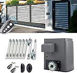 Orion Motor Tech Cancello Scorrevole Elettrico Apriporta Automatico Motore per Cancello Scorrevole Porta da Garage Scorrevole Kit Apricancello con 2 Telecomandi (280 W)