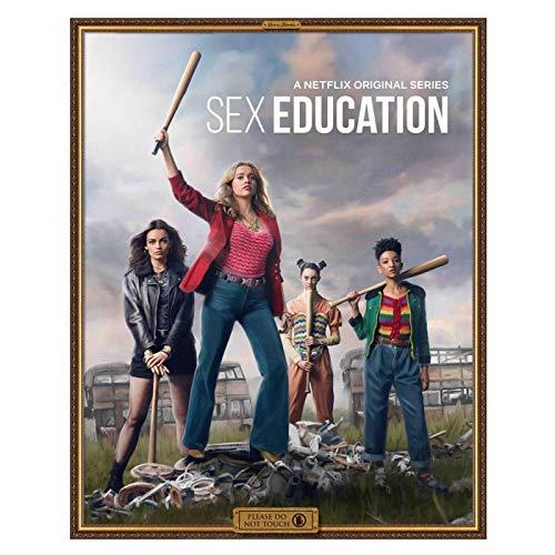 danyangshop Commedia Drammatica Popolare Britannica Serie TV Educazione Sessuale Famiglia Decorazione Murale Art Poster Pittura Pittura su Tela W-5315 (50X90Cm) Senza Cornice