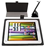 Etui fin noir DURAGADGET avec stand de maintien pour tablettes tactiles Auchan QILIVE 9.7 B600121 &...