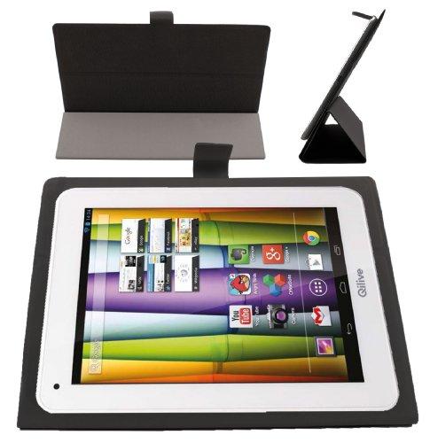 """DURAGADGET Etui Fin Noir avec Stand de Maintien pour tablettes tactiles Auchan QILIVE 9.7 B600121 & 9.7R B600122 (Android 4.1.2, écran 9,7"""")"""
