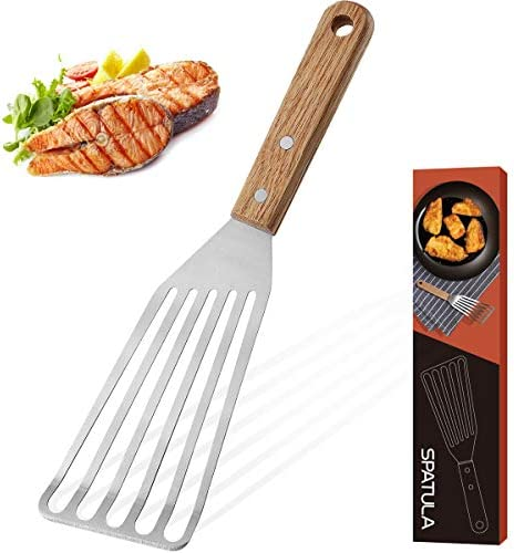 ROMANTICIST Stainless Steel Wide Thin Kitchen Fish Spatula Lightweight and Durable Slotted Spatula product image