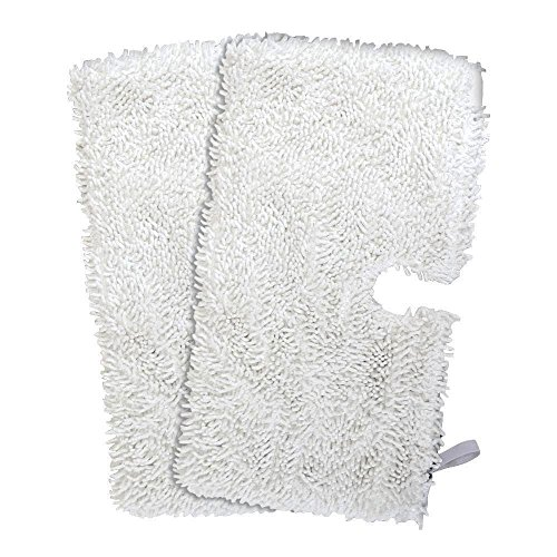Washable Microfiber Pads Cleaning Mop Pads for Shark Steam Mop Pocket Microfiber Pads for S3500 Series, S3601 and S3901 (2 Packs, White)