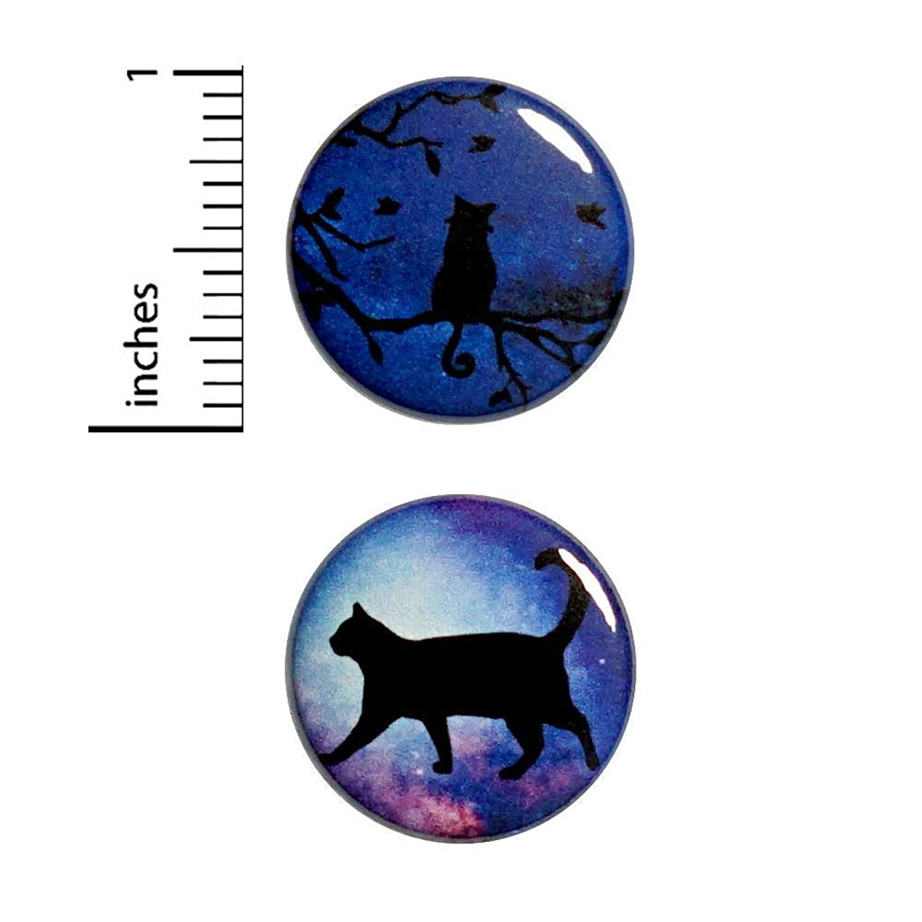 Cat Sky Button 2 Pack Pin or Magnet 1 Inch 2P2-14
