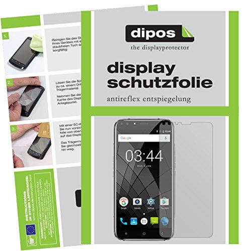 dipos I 6X Schutzfolie matt kompatibel mit Oukitel U22 (5,5 Zoll) Folie Bildschirmschutzfolie (3X Vorder- und 3X Rückseite)