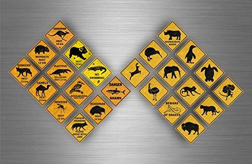 Akacha 24x Sticker Aufkleber australien Sign straßenschild Scrapbooking
