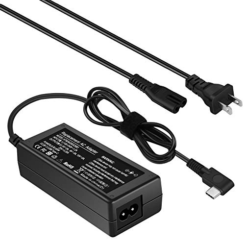 65W USB C Ac Adapter Laptop Charger for MacBook HP Pavillion X2 Spectre x360 13 Lenovo Yoga 720 910 ThinkPad X1 Yoga5 Pro 4X20E75132 DELL XPS 12 XPS 13 Notebook Power Supply
