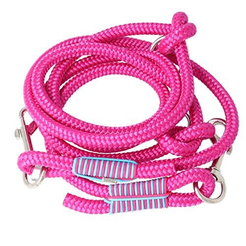 Taumur Stelpa - Zweifach verstellbare Hundeleine - Robustes PPM - große Hunde - Farbe: pink