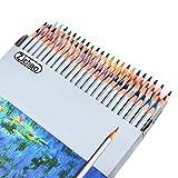ZJchao 72 piezas Colores estuche para lápices con cierre funda con tapa para bolígrafo de material de oficina bolsa de transporte de Oxford gran capacidad lápices de multi-capa organizador de, color 72 Corlor pencile