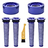 2 HEPA + 4 Pre Replacement Filters for Dyson V8+, V8, V7 Absolute Animal Motorhead Cordless Vacuum Cleaner,Replaces Part # 965661-01 & 967478-01