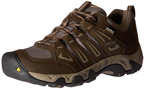 KEEN Men's Oakridge Waterproof Shoe, Cascade/Brindle, 9 M US