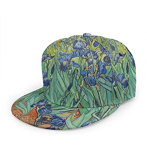 Hoed kunst schilderen Vincent Willem Van Gogh Irises 1889 Honkbal Cap Gezellige Papa Hoed Trucker Hoed Ontwerp Duurzame Hiphop Mode Vissen Volwassen Gepersonaliseerde Unisex Speciale Sport