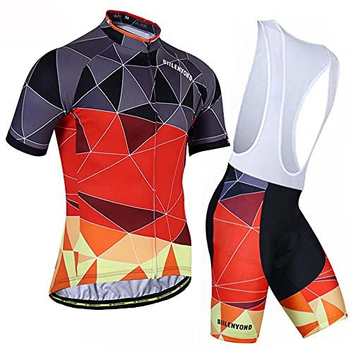 HXTSWGS Jersey de Ciclismo Transpirable para Hombre, Ropa de Bicicleta de Manga Corta, Camiseta de MTB Superior para Bicicleta, Transpirable Summer-A22_XS
