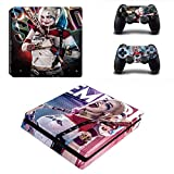 Playstation 4 Slim Skin Set – Crazy Girl - HD Printing Vinyl Skin Cover Slimtective for PS4 Slim Console and 2 PS4 Controller by KALINDA MODI.