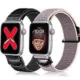 youmaofa Kompatibel mit Apple Watch Armband 38mm 40mm, Sanft Nylon Sport Ersatzarmband Kompatibel...