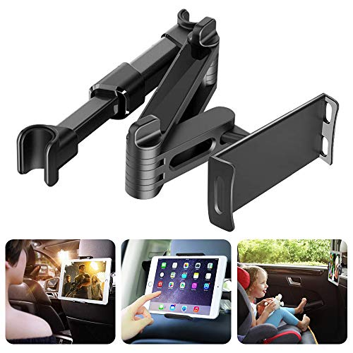 Viden Car Headrest Mount Holder-Car Seat Mount Tablet Holder, Universal Tablet Holder With 360 Degree Rotation for iPad, iPhone, Surface, Samsung Galaxy Tabs, Adjustable Fits 4-11 inch Screens