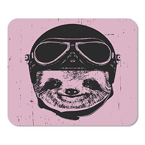 Mousepad Computadora Bloc de Notas Oficina Cara Retrato de Pereza Vintage Casco Boceto Aviador Animal Hogar Escuela Juego Jugador Computadora Trabajador Pulgada