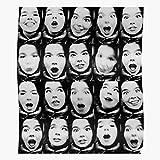 Amelius Poster Bjork Face Print, Beeindruckende Poster für