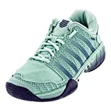 K-Swiss Women's Hypercourt Express Tennis Shoe (Brook Green/Blue Ribbon, 5)
