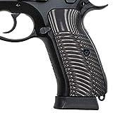 Guuun CZ 75 Grips, G10 CZ SP01 Tactical Grips Full Size Slim Sunburst Texture