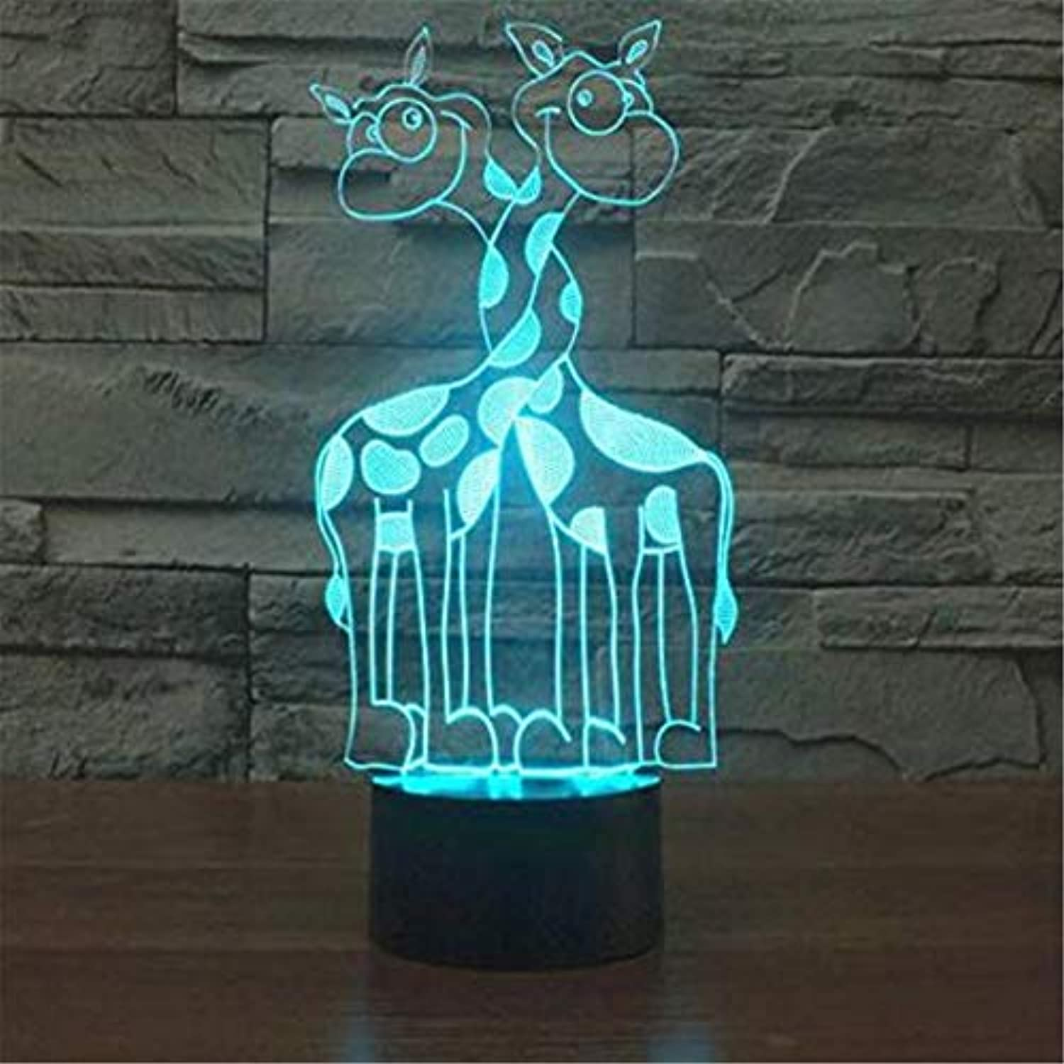 Led Lights Edison Lights 3D Acryl Nachtlicht Giraffe