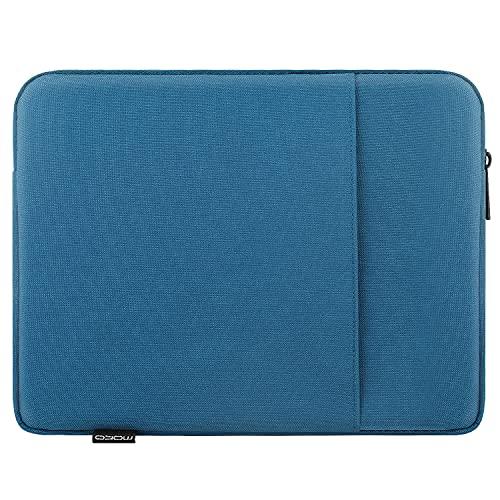 MoKo Custodia Protettiva da 9-11 inch, Sleeve per Tablet Compatibile con iPad 8th Gen 10.2, iPad Air 4 10.9, iPad PRO 11 2021 in Poliestere Resistente con Due Tasche a Zip, Blu Pavone