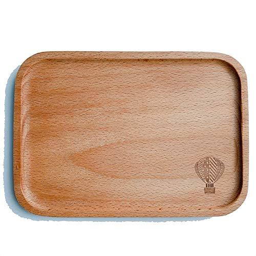 Roost 木製 木のカフェトレー ティーマット ソーサー おやつトレー キッズプレート ウッドトレイ グラタントレー おやつトレイ カフェトレイ 離乳食 ベビー 赤ちゃん 小さめ 気球 サーカステント (気球)