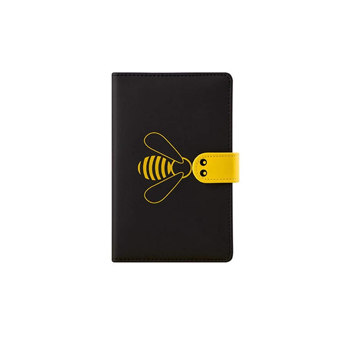 XIONGHAIZI ハンドアカウント帳、女の子の心の格子縞のピクセル絵画グリッド、人格クリエイティブかわいいポータブルノート、空白の内側のページの正方形の本の日記、ノート、文芸絶妙な小さな新鮮な黒、黄色2 (Color : Black)