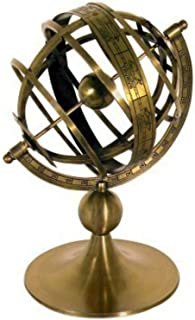CAPRILO. Figura Decorativa de Latón Reloj Solar Esfera Armilar. Adornos y Esculturas. Decoración Hogar. Regalos Originale...