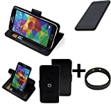 K-S-Trade® Case Schutz Hülle Für Shift Shift5.3 + Bumper Handyhülle Flipcase Smartphone Cover Handy Schutz Tasche Walletcase Schwarz (1x)
