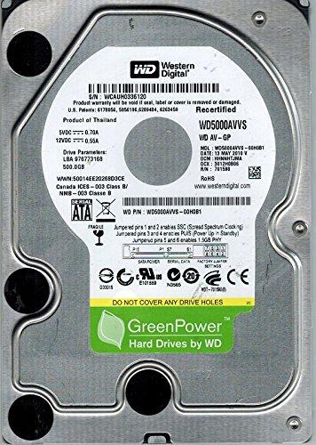 Western Digital WD5000AVVS-00H0B1 500GB DCM: HHNNHTJMA