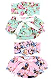 Baby Girls Diaper Covers Bloomers and Headbands Sets Big Bow Ruffle Shorts Briefs Underwear for Newborn Infant Toddler (6-12 Months)