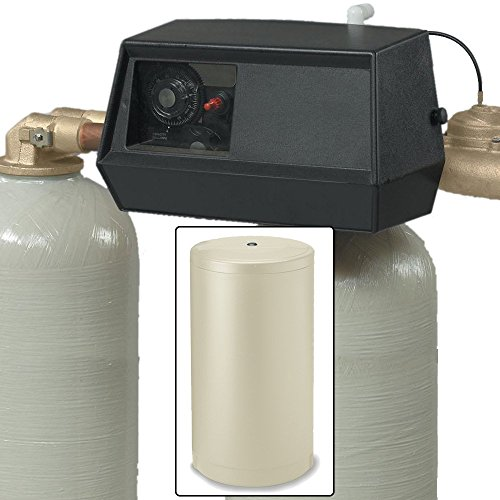 Fleck 64k 9000 dual tank water softener 64,000 grain with 9000 metered valve