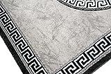 Traum Moderner Teppich Designer Teppich Orientteppich mit Glitzergarn Wohnzimmer Teppich mit Bordüre und Kreismuster in Grau Anthrazit Creme Größe 120x160 cm - 3
