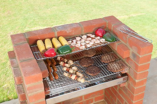 BLACK KNIGHT BARBECUES BKB 502 67 x 39 cm Deluxe Barbecue kit – en Acier Inoxydable