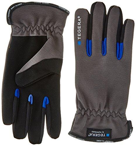 Ejendals Handschuh Tegera 414 aus Synthetikleder, Größe 10, 1 Stück, grau/schwarz, 414-10