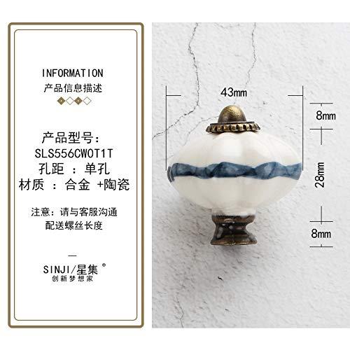 ZTZT Handbemalte Keramik Schubladengriff modernen minimalistischen europäischen Stil...
