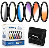 58MM Ultimaxx Six Piece Gradual Color Filter Kit(Orange, Yellow, Blue, Purple, Red, Grey) For Canon EOS 90D, 80D, 77D, 70D, Rebel T7, T7i, T6i, T6, T6s, T5i, T5, T4i, T3i, T100, SL3, SL2, SL1 And More