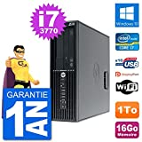 HP PC Workstation Z220 SFF Core i7-3770 RAM 16Go Disque Dur 1To Windows 10 WiFi (Reconditionné)