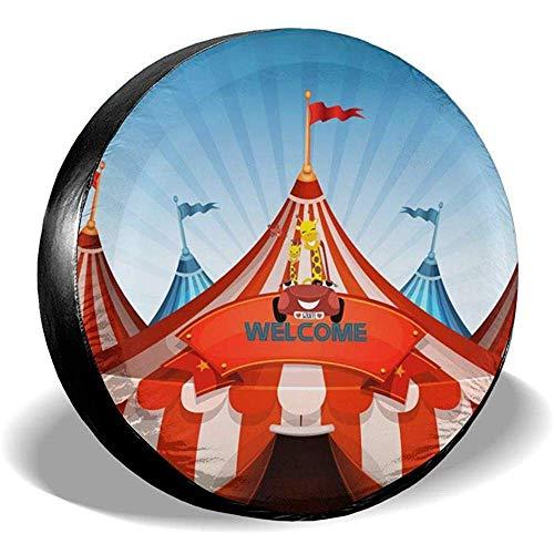 XZfly Big Top Circus Tents met Banner Welkom Reservebanden, Universele Wielbandbeschermers, Travel Car Weerbestendig