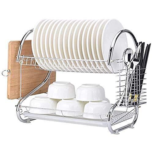 Yaeeee Norte de Europa De Doble Capa de un Solo Disco de Drenaje ESCURREPLATOS Utensilios de Cocina de Almacenamiento en Rack Rack Fabricante de Hierro Estante de Cocina