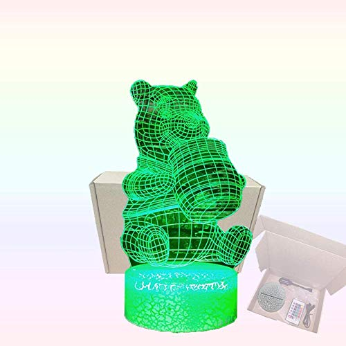 3d nachtlicht illusion 3d illusions lampen Winnie Puuh für Kinder Schlafzimmer Geburtstagsgeschenke Geschenk (Touch-Schalter) - Stil 215
