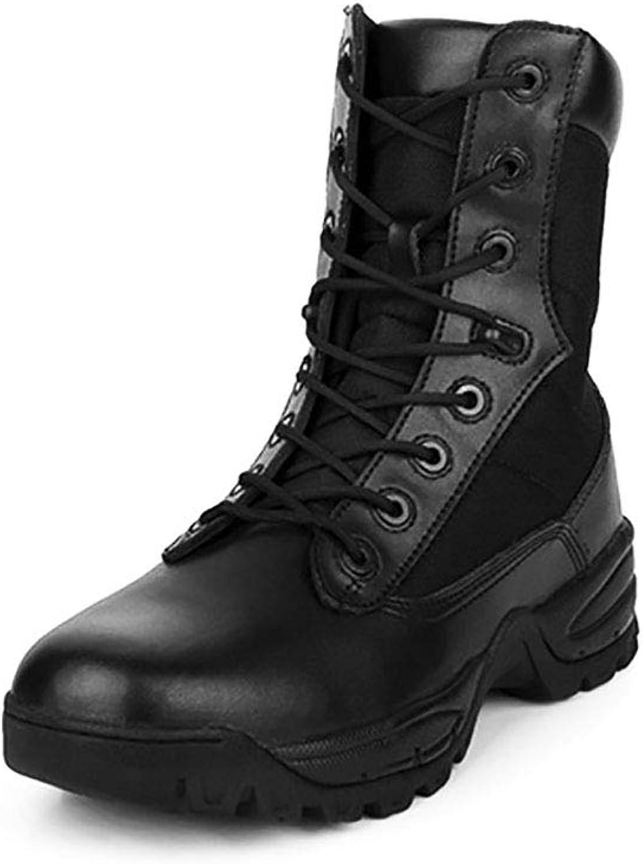 suministramos lo mejor YAN Zapatos Unisex 2018 botas De Cuero De De De Alta súperior De Entrenamiento Al Aire Libre botas De Encaje Casual Diariamente Caminar Zapatos Senderismo Camping, Desafíos Extremos, Correr,Beige,44  almacén al por mayor