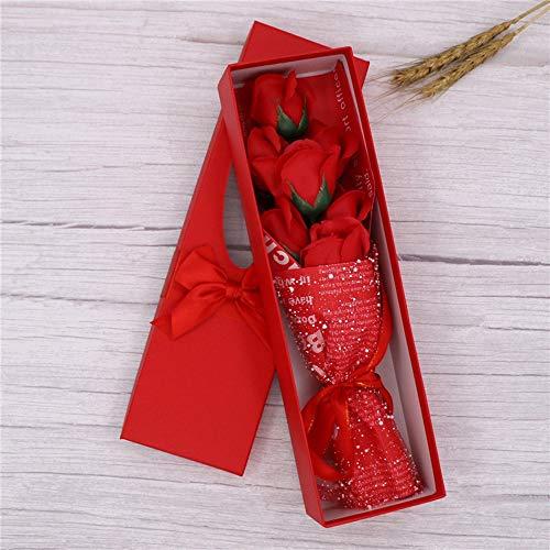 SXLWW Rose Zeep Bloem Bloem Boeket Geschenkdoos voor Moeders Dag Bruiloft Feest Cadeau van Valentijnsdag Moederdag Vaderdag
