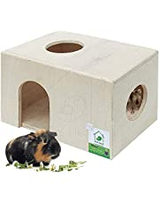 PetNest Wood House for Small Animals Hide House/Hammock for Hamster/Dwarf/Mice/Gerbil/Chinchilla/Hedgehog Cage Toy Chew Toy Hamster Hideout Toys - HH2