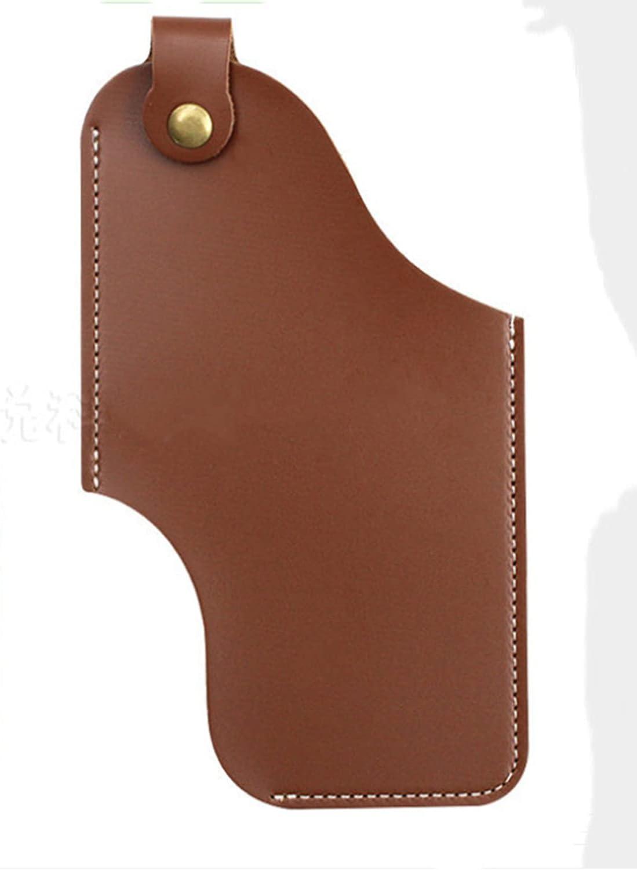 MMCCHB Men Universal Case Waist Bag ,Outdoor Leather EDC Belt Bag Leather Belt Cover Holster Mobile Phone Bag, Men's Mobile Phone Belt Bag Ring Waist Holster Bag Cover