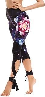 YLBH Pantaloni Sportivi con Fasciatura di Yoga Multicolor Stampati con Leggings Casual Pantaloni Taglie Forti Yoga Sport P...