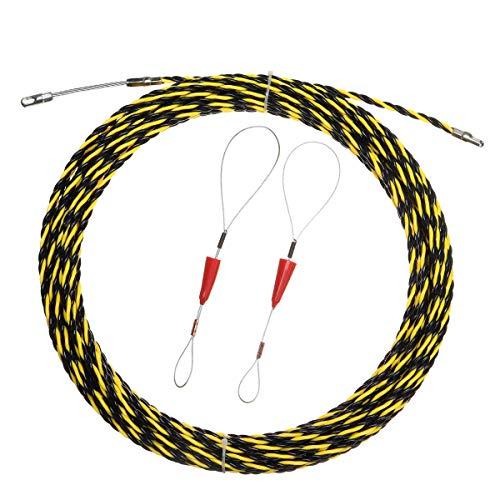 MJJEsports 5m/10m/15m/20m spiraalkabel trekker leiding slang kabel staaf vis tape draad gids, 20M, 1